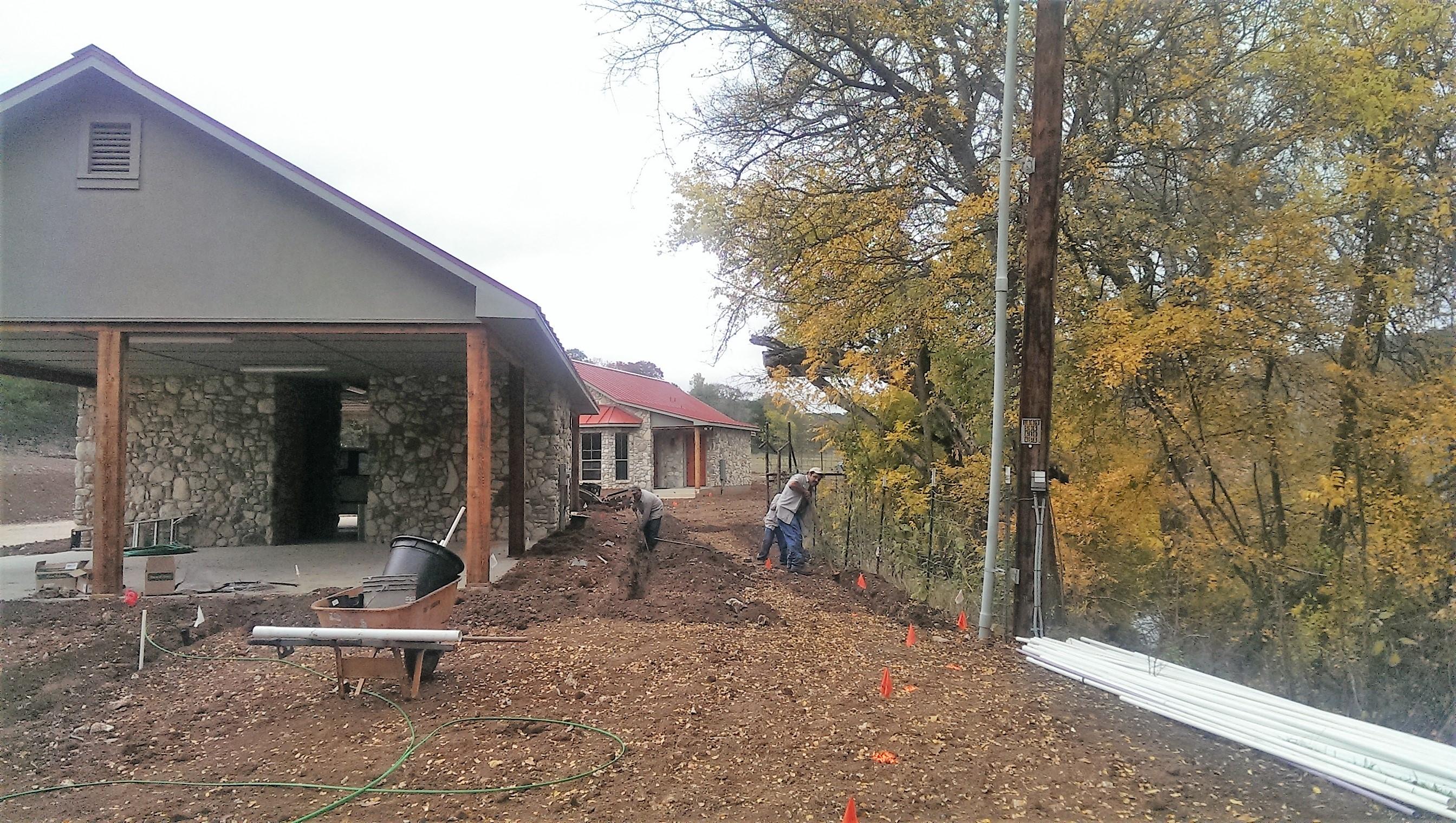 Team Installing Irrigation Lines