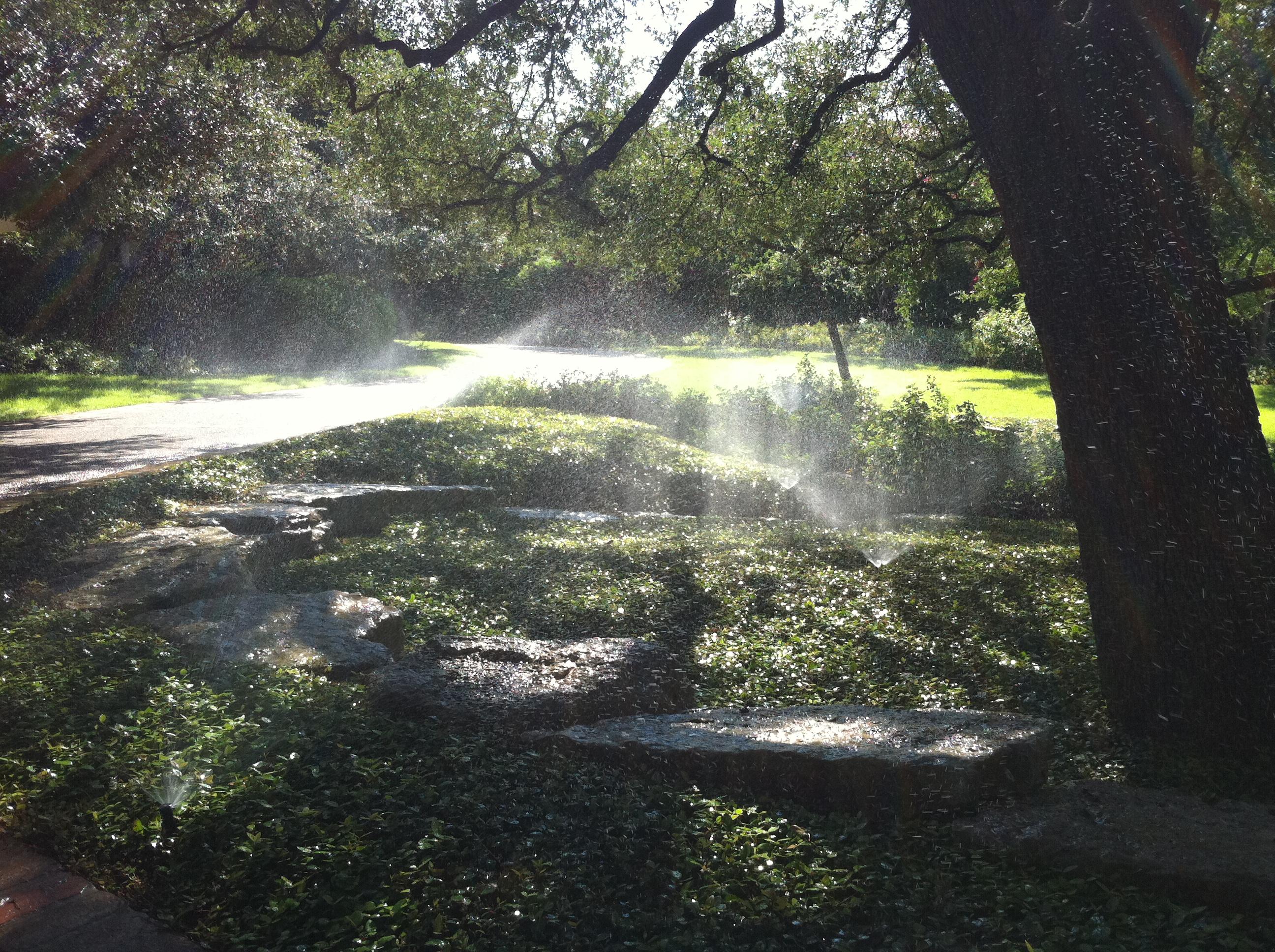 Sprinkler System Active