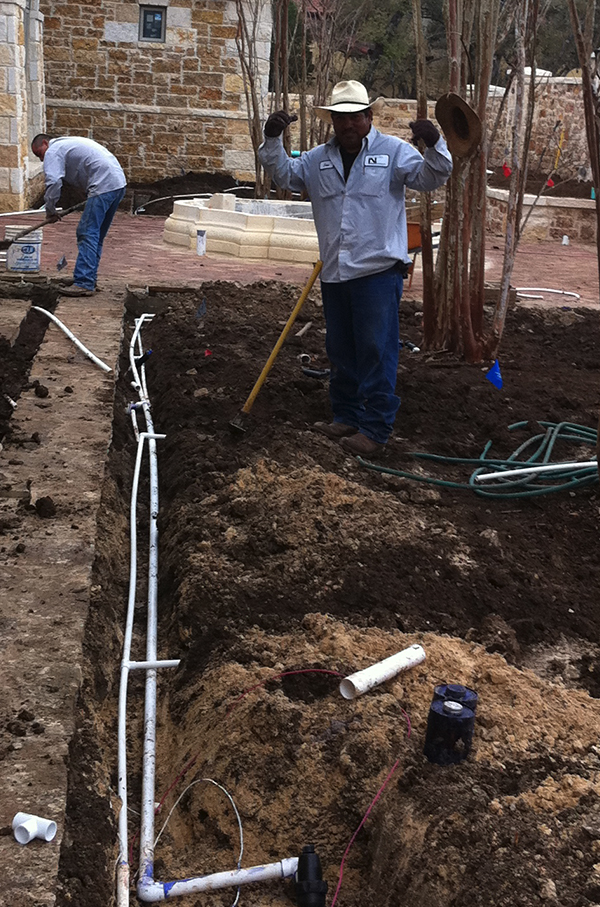 Landscape Sprinkler Irrigation Install