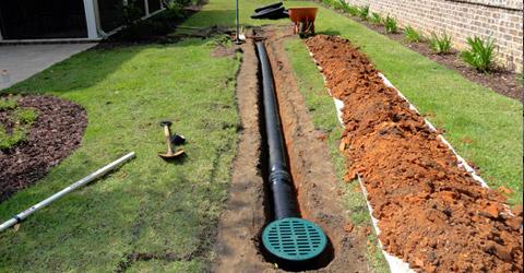 Underground Drainage install